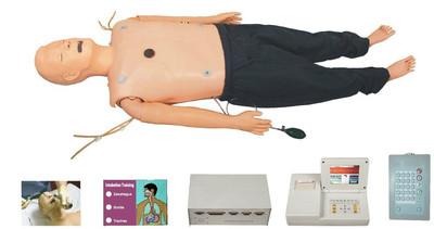 高级多功能急救训练模拟人(心肺复苏CPR与气管插管综合功能)型号:SJ/ACLS800